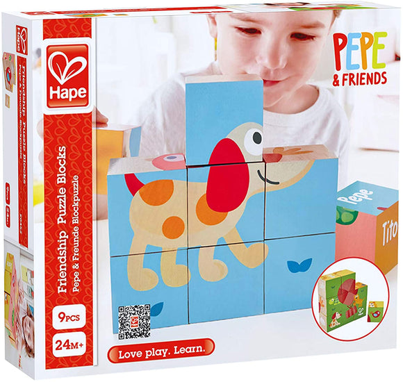 HAPE E0452 WOODEN FRIENDSHIP PUZZLE BLOCKS
