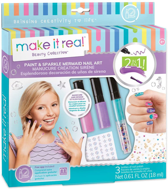 MAKE IT REAL 2324 PAINT AND SPARKLE MERMAID NAIL ART