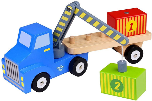 TOYMASTER TKF013 WOODEN CONTAINER LOADER