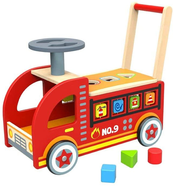 TOYMASTER TY063 WOODEN RIDE-ON FIRE TRUCK