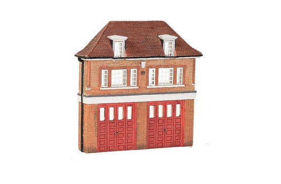 GRAHAM FARISH SCENECRAFT 42-240 LOW RELIEF FIRE STATION