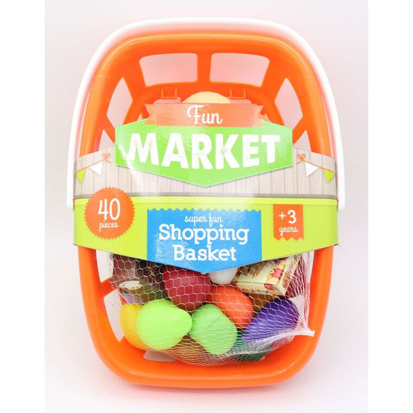 TOYMASTER 2506 TOY PLAY FOOD IN SHOPPING BASKET