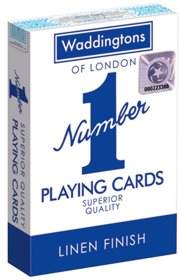 WADDINGTONS 7146 NUMBER 1 PLAYING CARDS (red or blue Random)