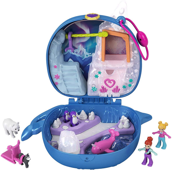 POLLY POCKET GKJ52 FREEZIN FUN NARWHAL PLAYSET