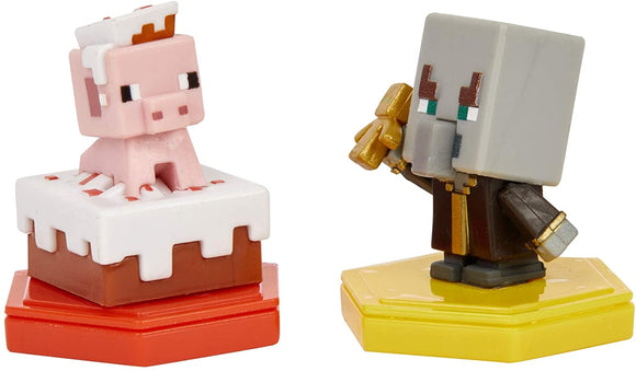 MINECRAFT GMD16 PIGGING OUT PIG AND UNDYING EVOKER BOOST MINI FIGURES