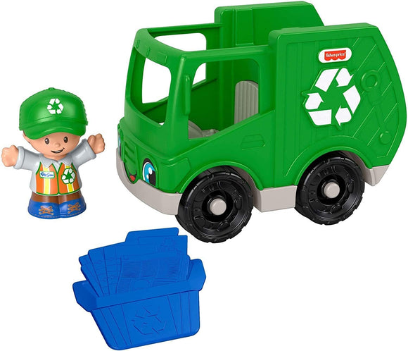 FISHER PRICE GMJ17 LITTLE PEOPLE RECYCLING TRUCK AND FIGURE