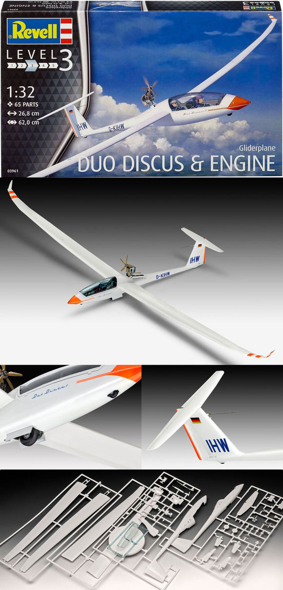 Revell  03961 1/32 Glider Duo Discus & Engine Plastic Kit