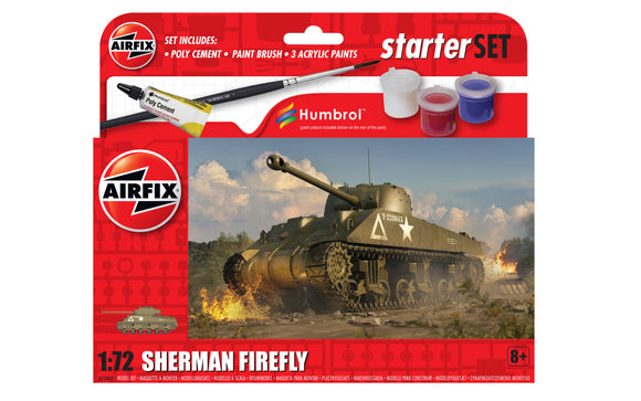 Airfix A55003 SHERMAN FIREFLY TANK 1/72ND SCALE STARTER KIT