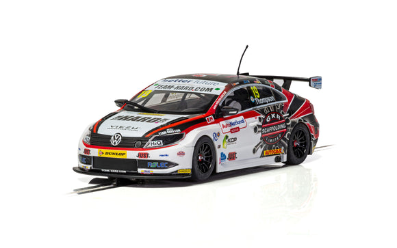 SCALEXTRIC CAR C4016 VOLKSWAGEN CC 2018 BRITISH TOURING CAR CHAMPIONSHIP NO19