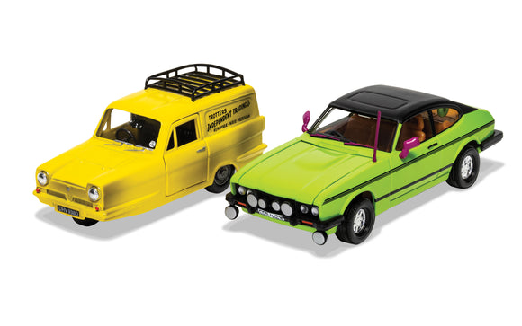 CORGI CC99189 ONLY FOOLS AND HORSES DEL BOY'S RELIANT REGAL & FORD CAPRI MK3