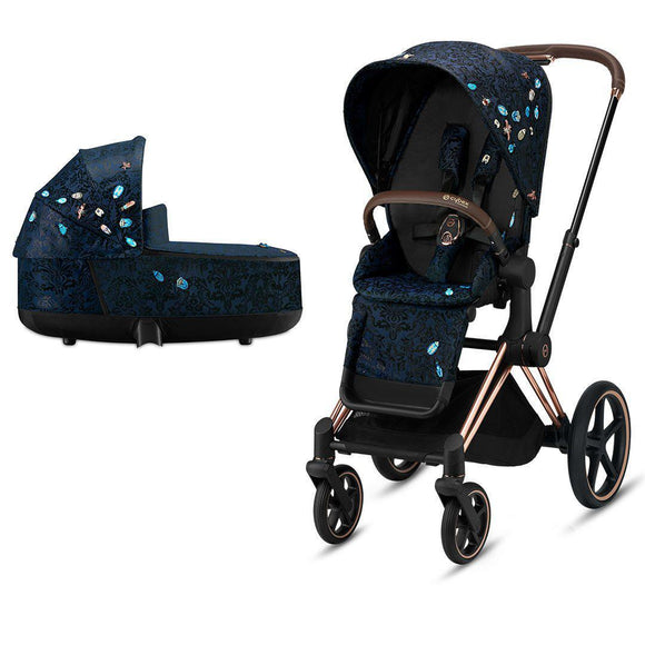 Cybex Priam stroller & carrycot Jewels of Nature on Rose Gold