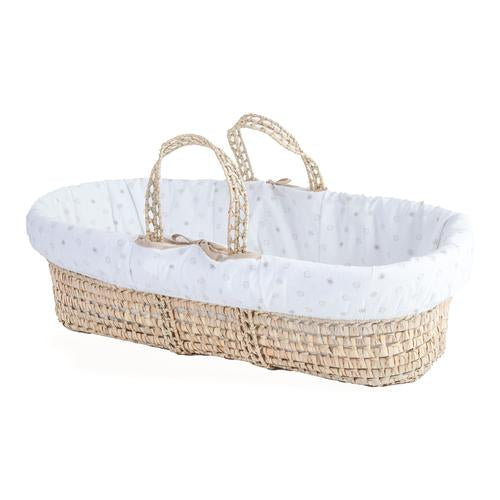 Clair De Lune dancing spot palm moses basket
