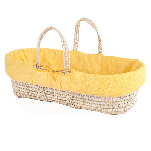 Clair De Lune colour pop moses baskets- sunshine yellow