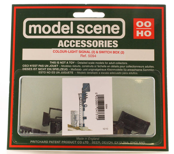 PECO MODELSCENE 5094 COLOUR LIGHT SIGNAL X2 SWITCH BOX X2