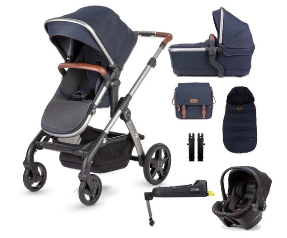 Silver Cross Wave Travel System Dream Car Seat and Base in Indigo