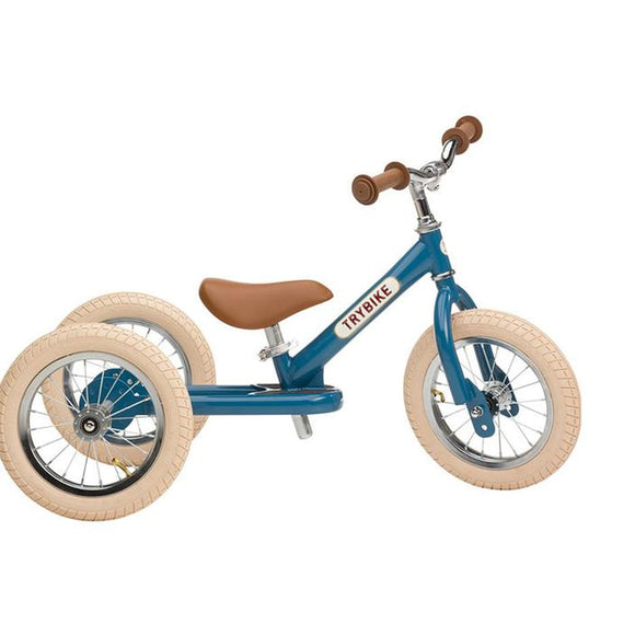 TryBike 2 in 1 Vintage Balance Bike Trike Blue