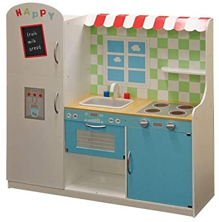 TOYMASTER HJD931367 WOODEN TOY KITCHEN COOKER