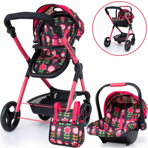 COSATTO ME MO DOLLS PRAM AND CAR SEAT IN FAIRY LAND