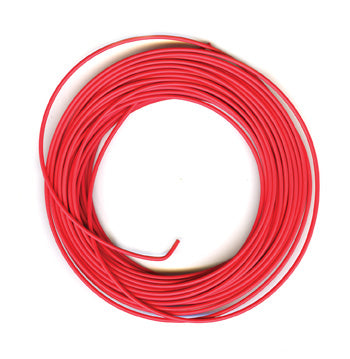 PECO PL-38 R ELECTRICAL WIRE  RED  3 AMP  16 STRAND PECO LECTRICS  FOR PECO SETRACK AND PECO STREAMLINE  ALL GAUGES