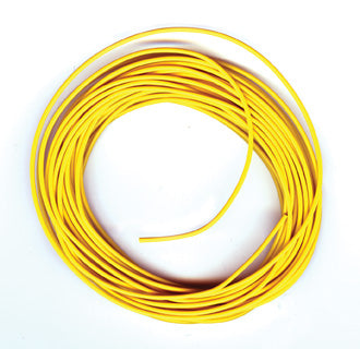 PECO PL-38 Y ELECTRICAL WIRE  YELLOW  3 AMP  16 STRAND PECO LECTRICS  FOR PECO SETRACK AND PECO STREAMLINE  ALL GAUGES