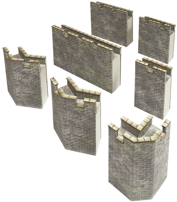 METCALFE PO293 00/H0 SCALE CASTLE  CURTAIN WALLS