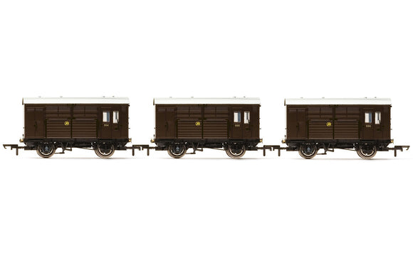 Hornby R6883 Horse Boxes  three pack  GWR - Era 3