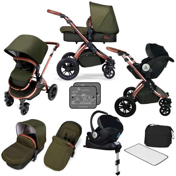 Ickle Bubba Stomp V4 All in One Mercury isize Travel System in Woodland Bronze