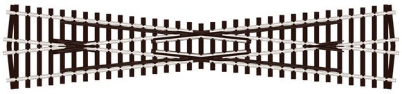 PECO SL-94 LONG CROSSING (12° ANGLE) OO GAUGE STREAMLINE TRACK CODE 100 INSULFROG POINTS TURNOUTS RIGID UNIT NICKEL SILVER TRACK WOODEN SLEEPERS