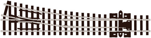PECO SL-395 MEDIUM RADIUS R/H N GAUGE STREAMLINE TRACK CODE 80 INSULFROG TURNOUTS POINTS TRACK NICKEL SILVER RAIL