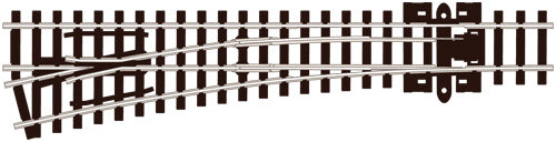 PECO SL-E396 MEDIUM RADIUS L/H N GAUGE STREAMLINE TRACK CODE 80 ELECROFROG TURNOUTS POINTS TRACK NICKEL SILVER RAIL