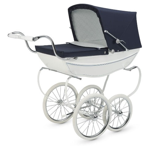 SILVER CROSS DOLLS PRAM OBERON IN CLASSIC WHITE