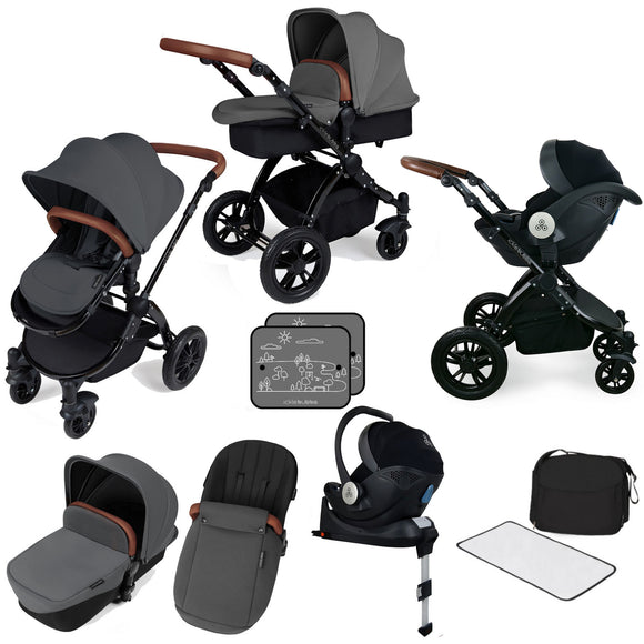 Ickle Bubba V3 All In One Mercury Isize Travel System in Graphite on Black Chassis