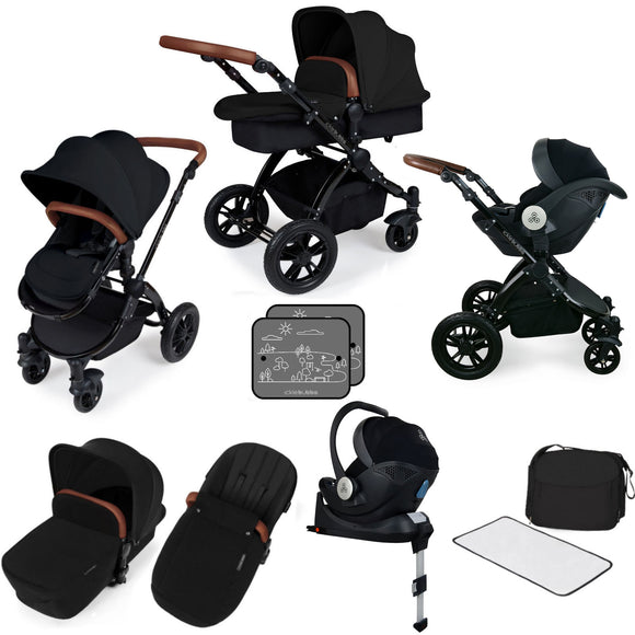 Ickle Bubba V3 All In One Mercury Isize Travel System in Black on Black Chassis