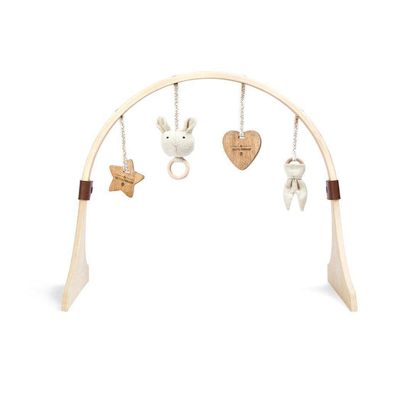 Little Green Sheep curved wooden play gym- bunny love