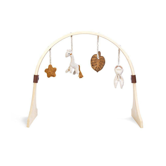 Little Green Sheep Curved wooden play gym- Safari