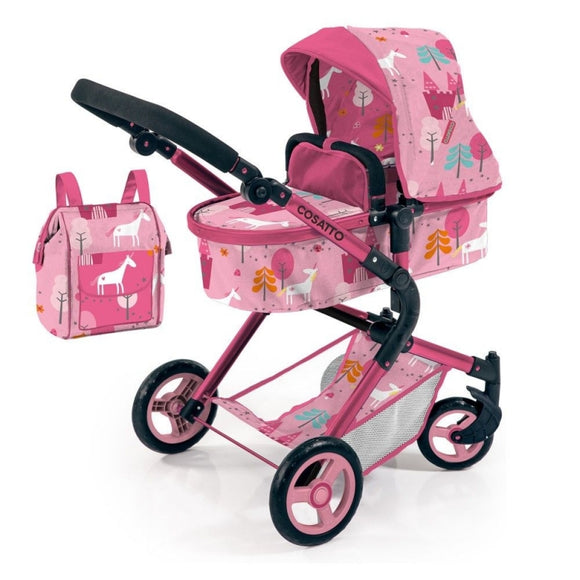 COSATTO WONDER DOLLS PRAM IN UNICORN LAND
