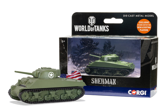 CORGI DIECAST WORLD OF TANKS WT91202  SHERMAN TANK