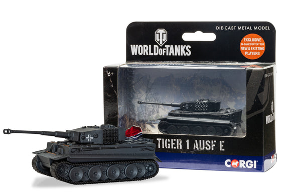 CORGI DIECAST WORLD OF TANKS WT91205  TIGER 1 AUSF E TANK