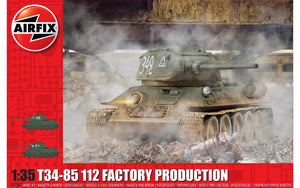 Airfix A1361 T34-85 112 Factory Production 1:35 Scale
