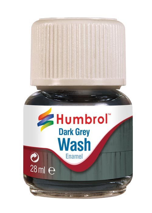 Humbrol AV0204 28ml Enamel Wash Dark Grey