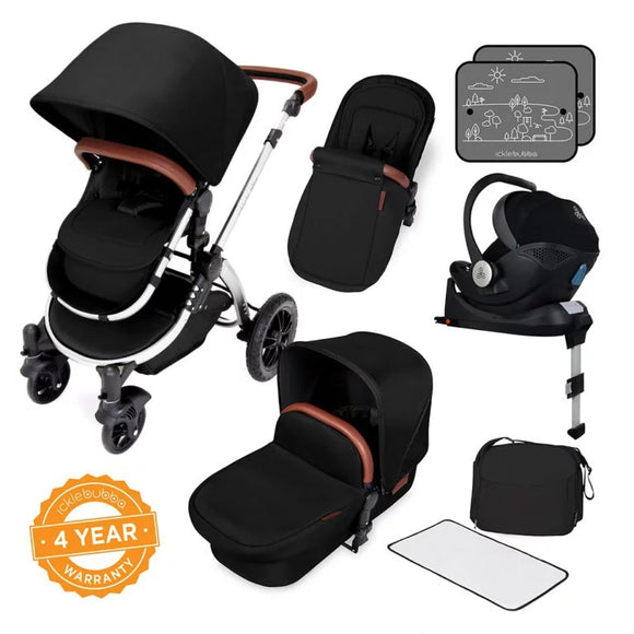 Ickle Bubba Stomp V4 All in One Mercury isize Travel System in Midnight Chrome