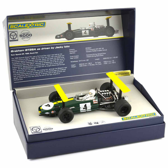 SCALEXTRIC CAR C3702A BRABHAM BT26A