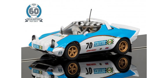 SCALEXTRIC CAR C3827A LANCIA STRATOS 5 OF 7 CELEBRATING 60 YEARS