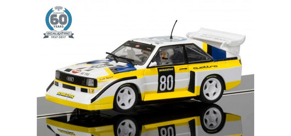 SCALEXTRIC CAR C3828A AUDI SPORT QUATTRO S1 E2  4 OF 7 CELEBRATING 60 YEARS