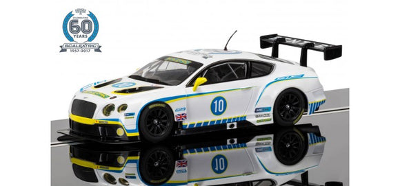 SCALEXTRIC CAR C3831A BENTLEY CONTINENTAL GT3 1 OF 7 CELEBRATING 60 YEARS