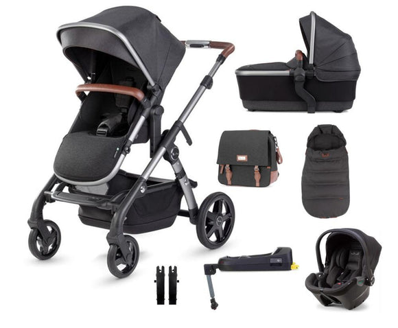 Silver Cross Wave Travel System with Dream Car Seat and Base in Charcoal