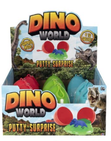 TOYMASTER 1375413 DINO WORLD PUTTY SURPRISE