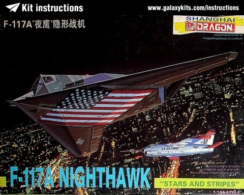DRAGON 4550 F-117A NIGHTHAWK 1/144 SCALE