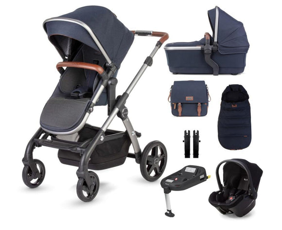 Silver Cross Wave Travel System Simplicity Plus Simplifix base in Indigo