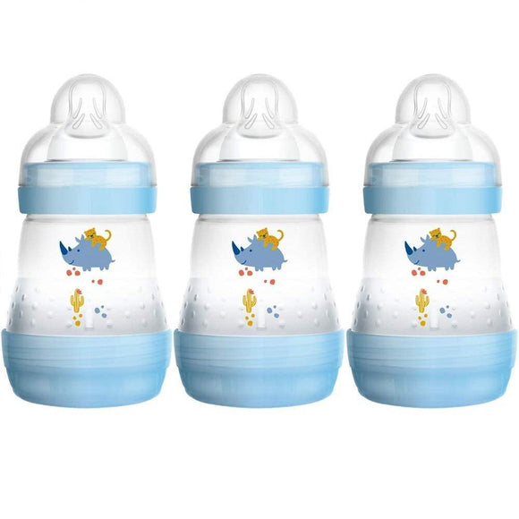 MAM Easy Start Anti Colic Bottle 0m+ 3 Pack- Blue